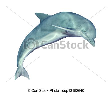 450x371 Computer Generated 3d Illustration With A Jumping Dolphin Drawing