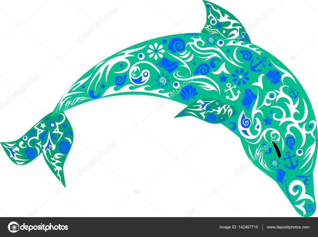 1024x763 Dolphin With Patterns, A Marine Animal, The Jumping Fish, Wild
