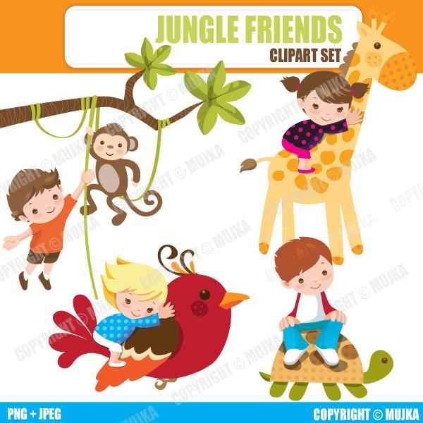 600x600 Inspirational 8 Graphics Of Jungle Animals And Kids ( Bonus