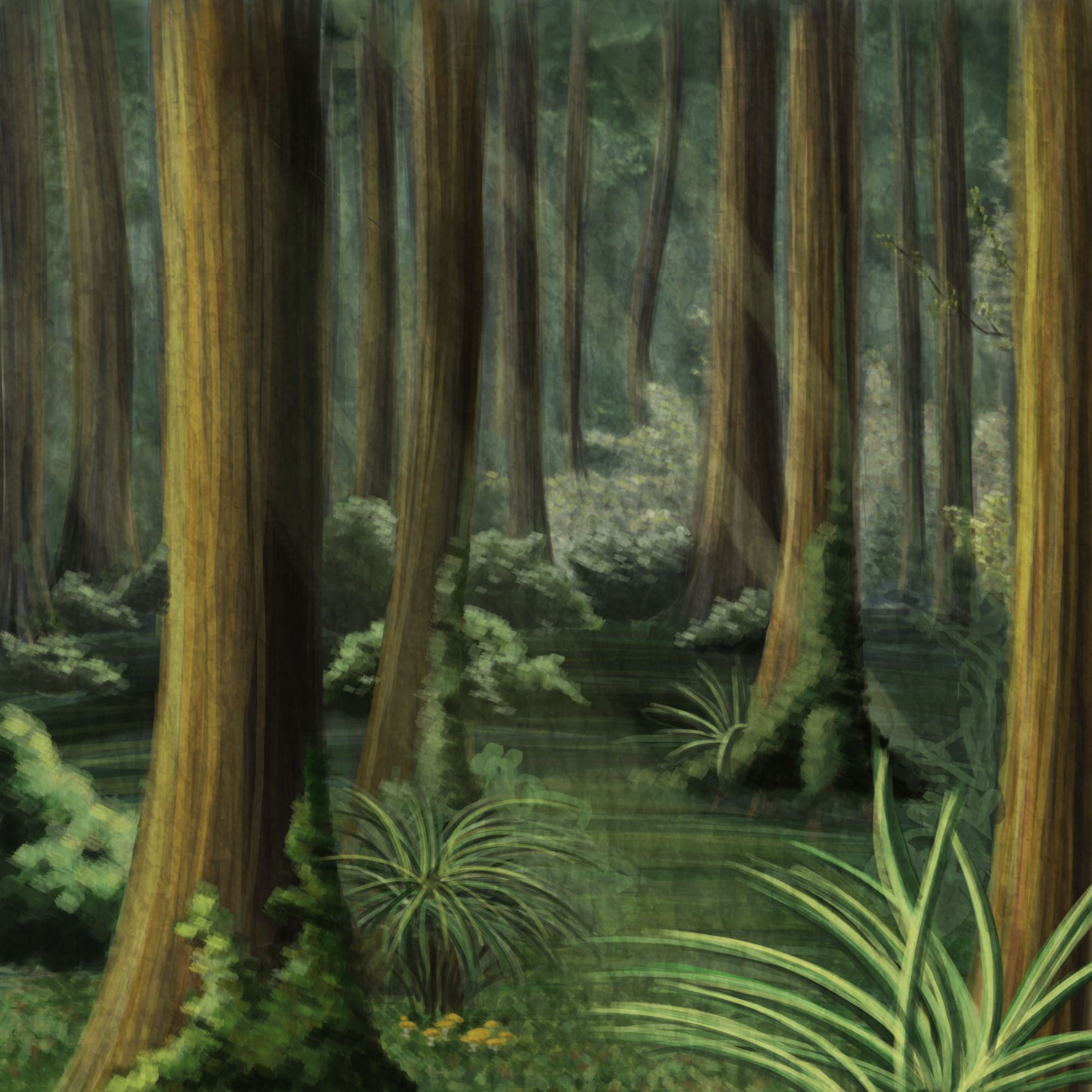 2000x2000 Jungle Background Drawing