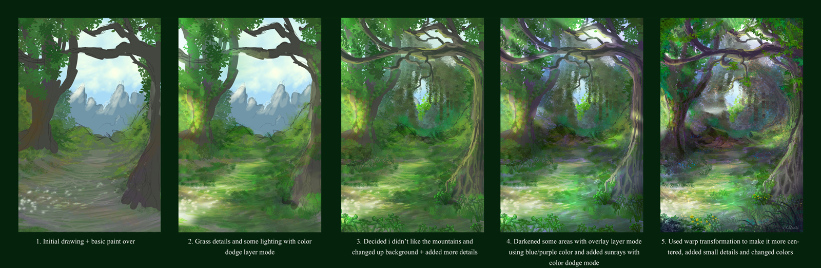 1600x522 Tutorial Background Forest On Drawing Tutorial