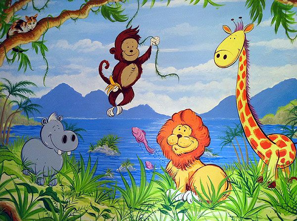 jungle drawing for kids at free for personal use jungle drawing for kids of. Black Bedroom Furniture Sets. Home Design Ideas