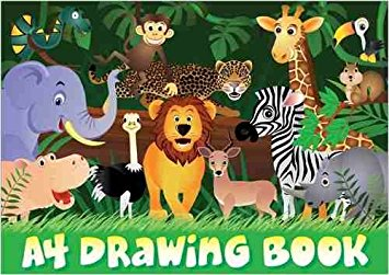355x251 Pack Of 10 Jungle Scene A4 Drawing Books Toys Amp Games