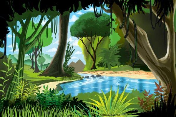 598x398 Cartoon Rainforest Scenery Cartoons Wallpaper Xpx This Cool