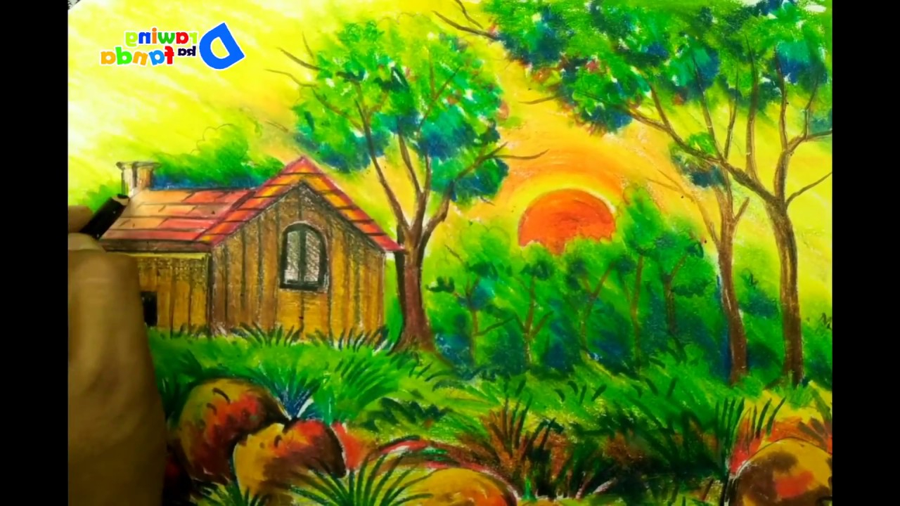 1280x720 How To Draw A Scenery Of Nature How To Draw A Scenery Of Jungle