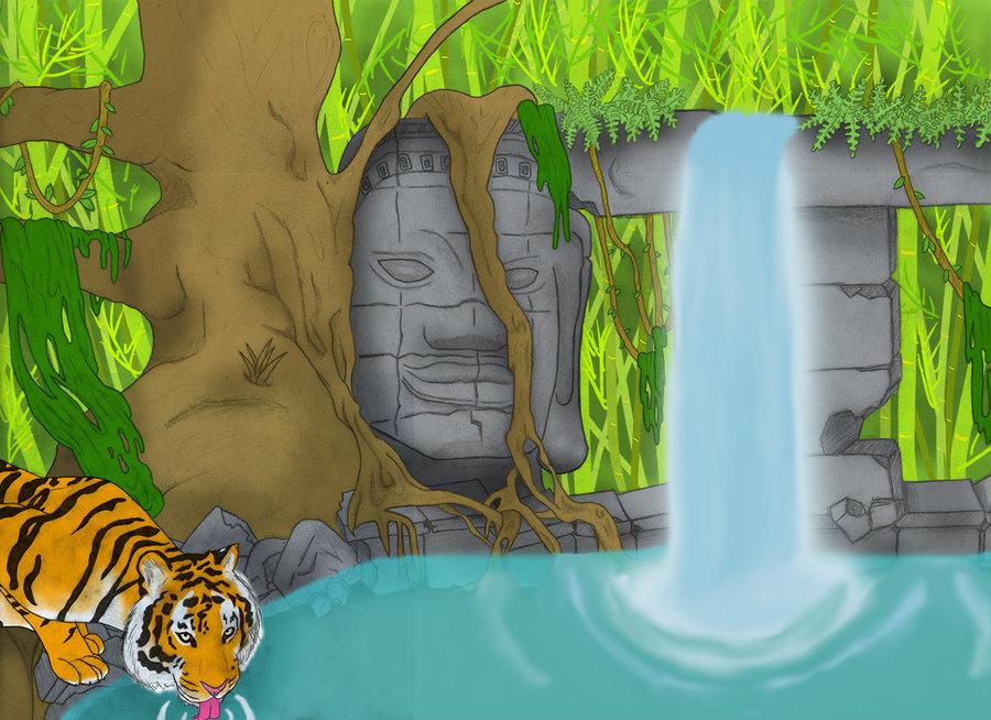 900x654 Jungle Scene By Tigorshtew