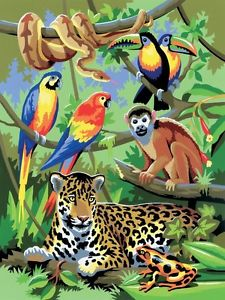 225x300 Acrylic Paintings Of Jungle Animals Crafts Gt Painting, Drawing