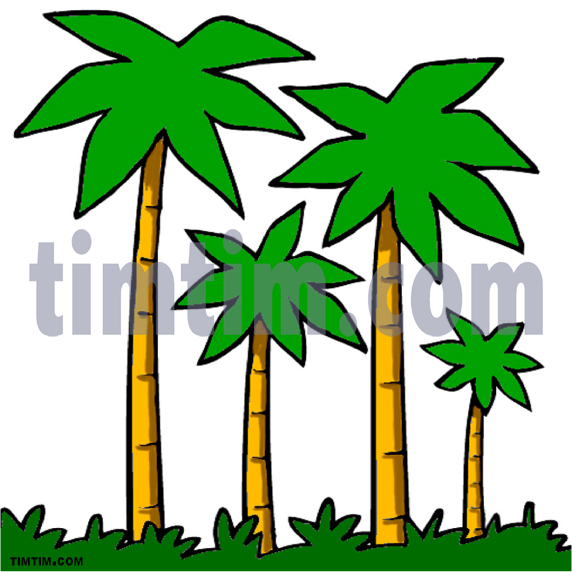 572x572 Free Drawing Of 4 Palm Trees From The Category Climate Amp Nature