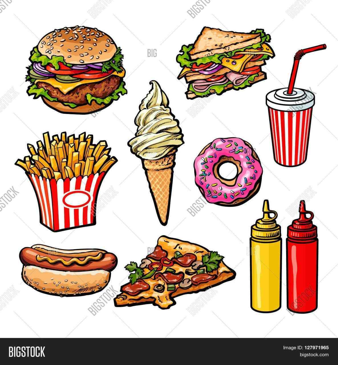 Junk Food Drawing at GetDrawings com | Free for personal use Junk