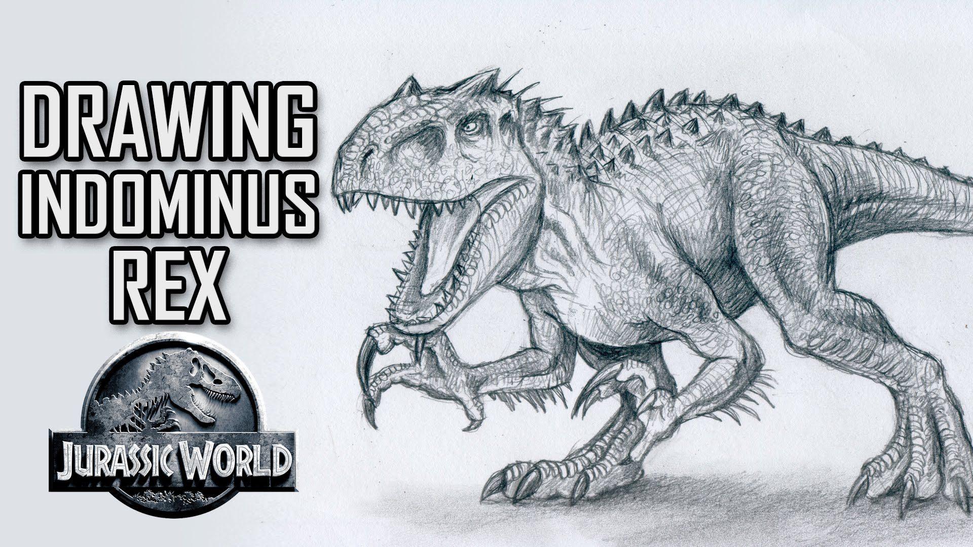 1920x1080 Indominus Rex Vs T Rex Drawings Dinosaurs Drawings
