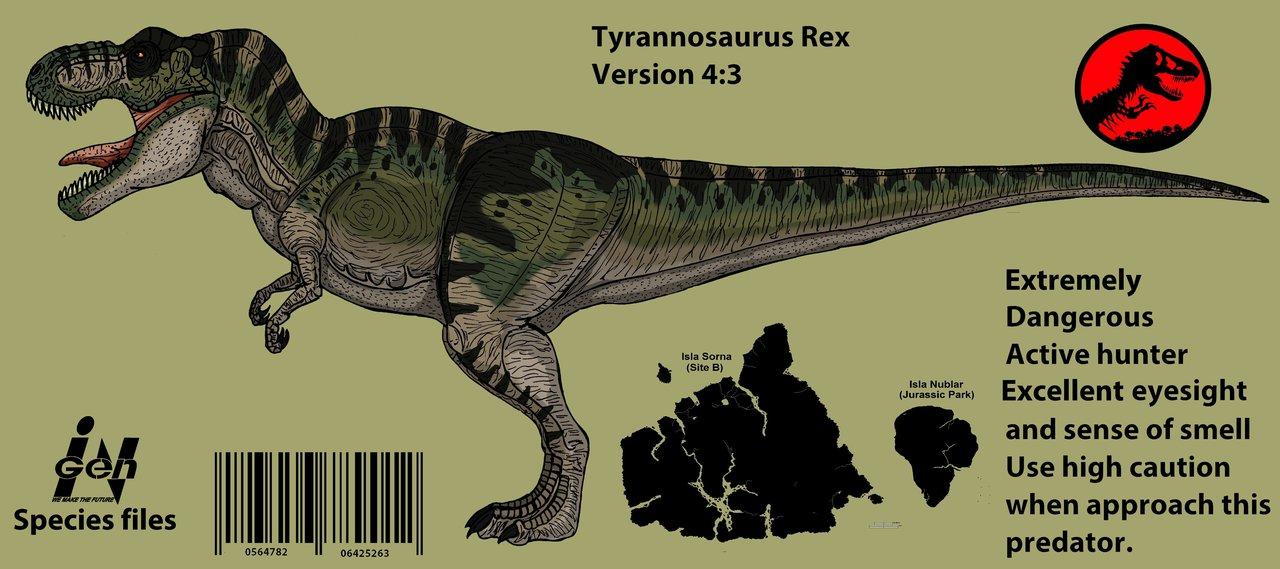 1280x569 Jurassic Park Tyrannosaurus Rex (Updated 2016 !!) By Hellraptor