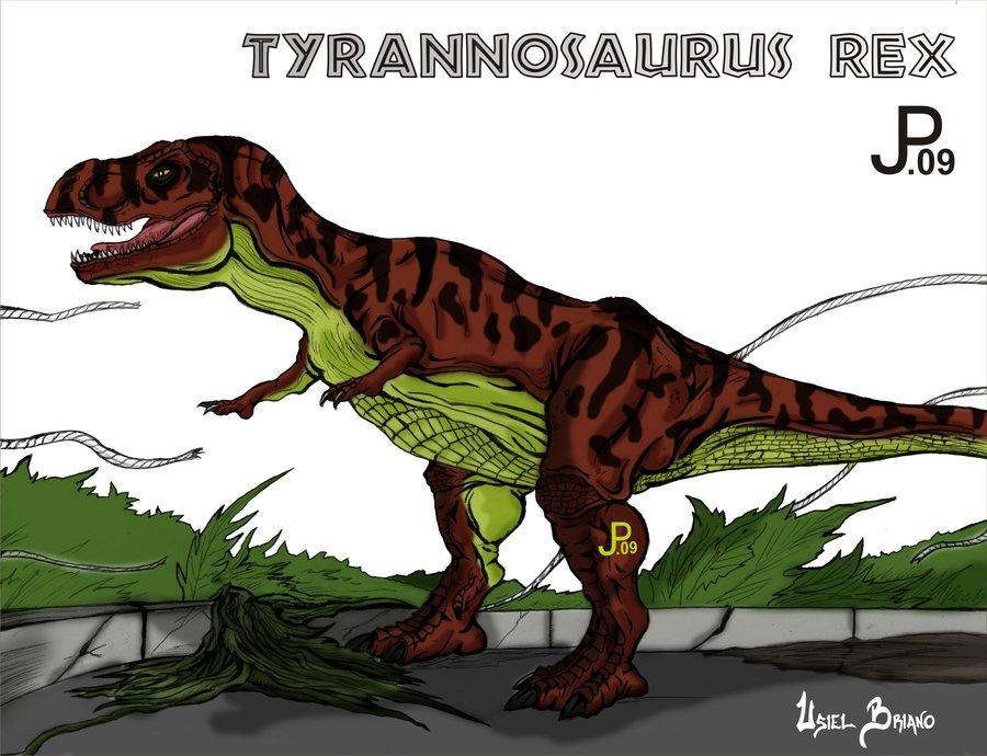900x690 Jurassic Park Tyrannosaurus Rex By Usielb