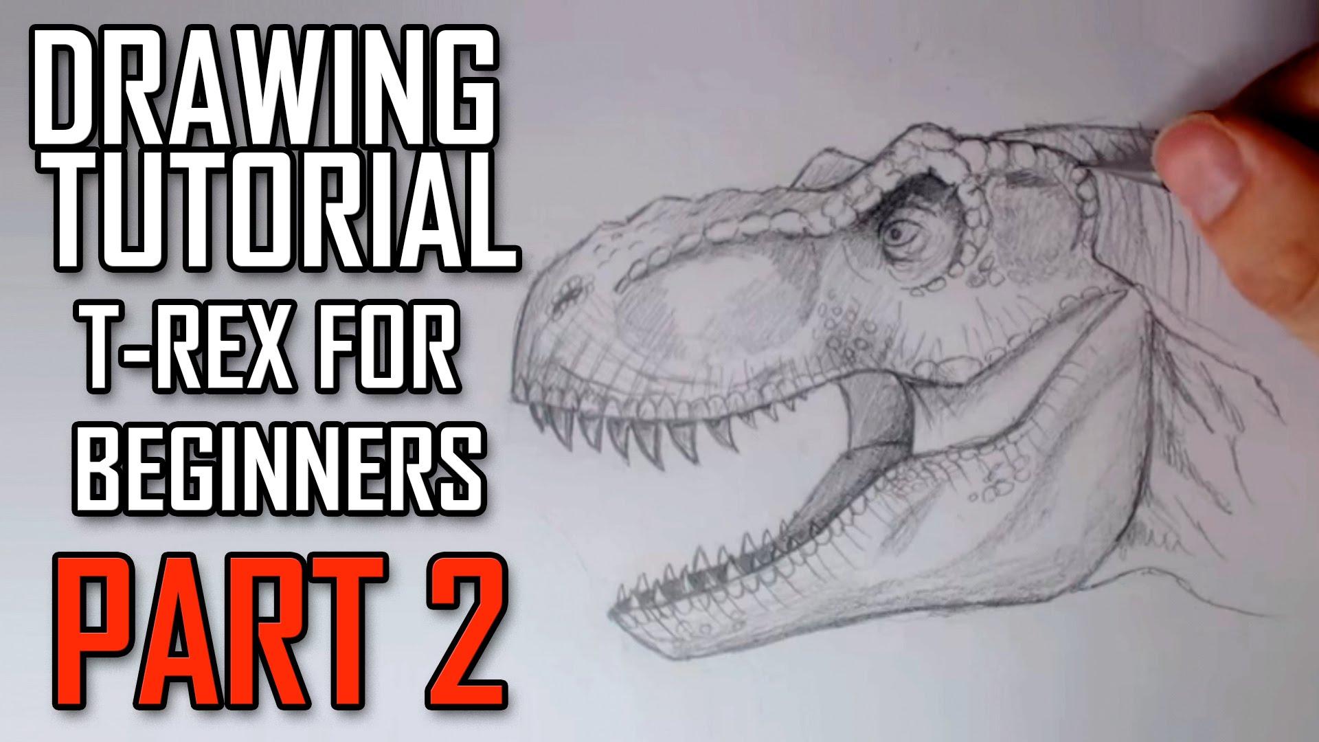 1920x1080 Learn How To Draw A Jurassic Park Trex Head For Intermediates