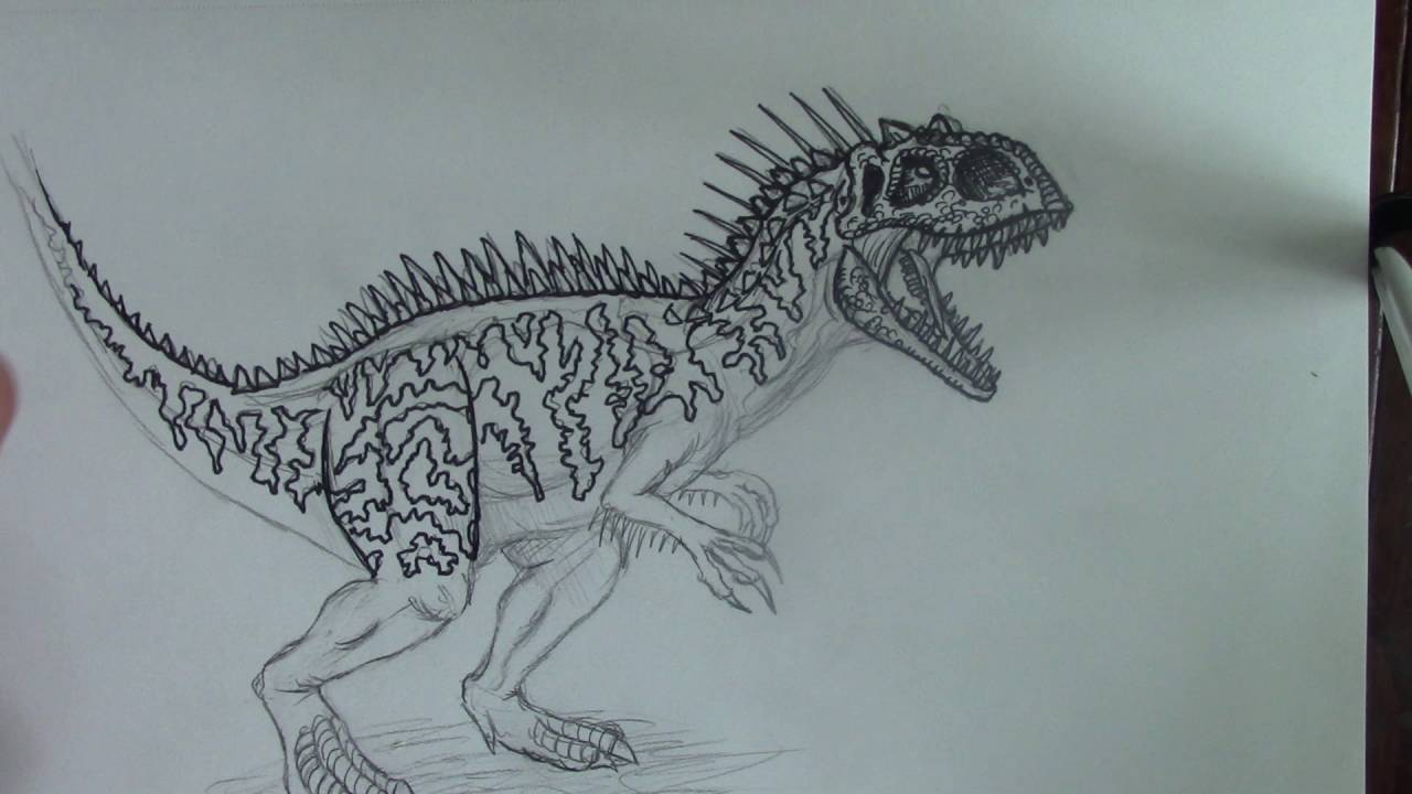 Jurassic World Indominus Rex Drawing at GetDrawings com