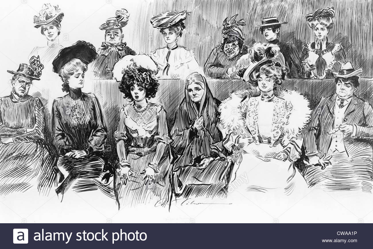 1300x870 1902 Drawing By Charles Dana Gibson (1867 1944), Studies In Stock