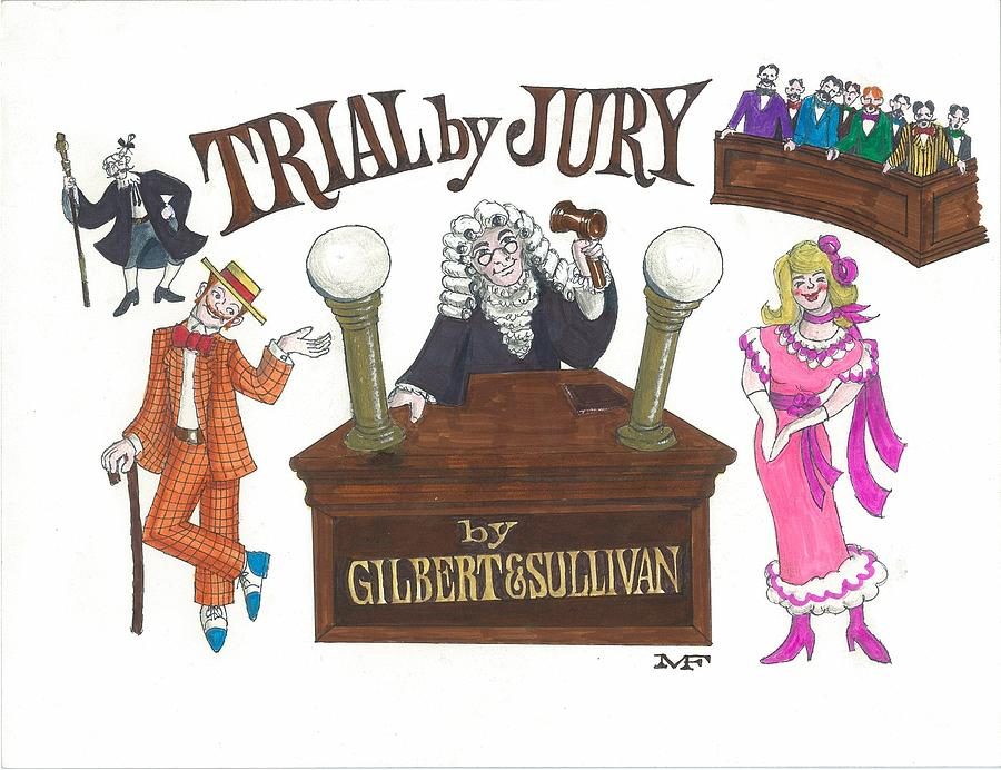 900x692 And S Trial By Jury Drawing By Marty Fuller