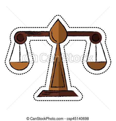 450x470 Cartoon Justice Scale Law Symbol Vector Illustration Eps 10 Eps