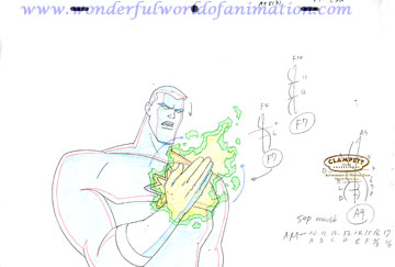 360x243 Justice League Unlimited Production Drawing Animation Art