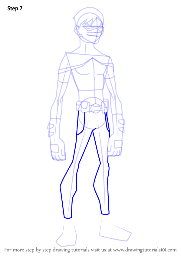 598x844 Learn How To Draw Robin From Young Justice (Young Justice) Step By