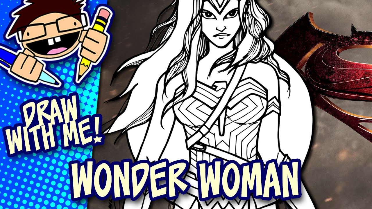 1280x720 Let's Draw Wonder Woman (Batman V Superman Dawn Of Justice