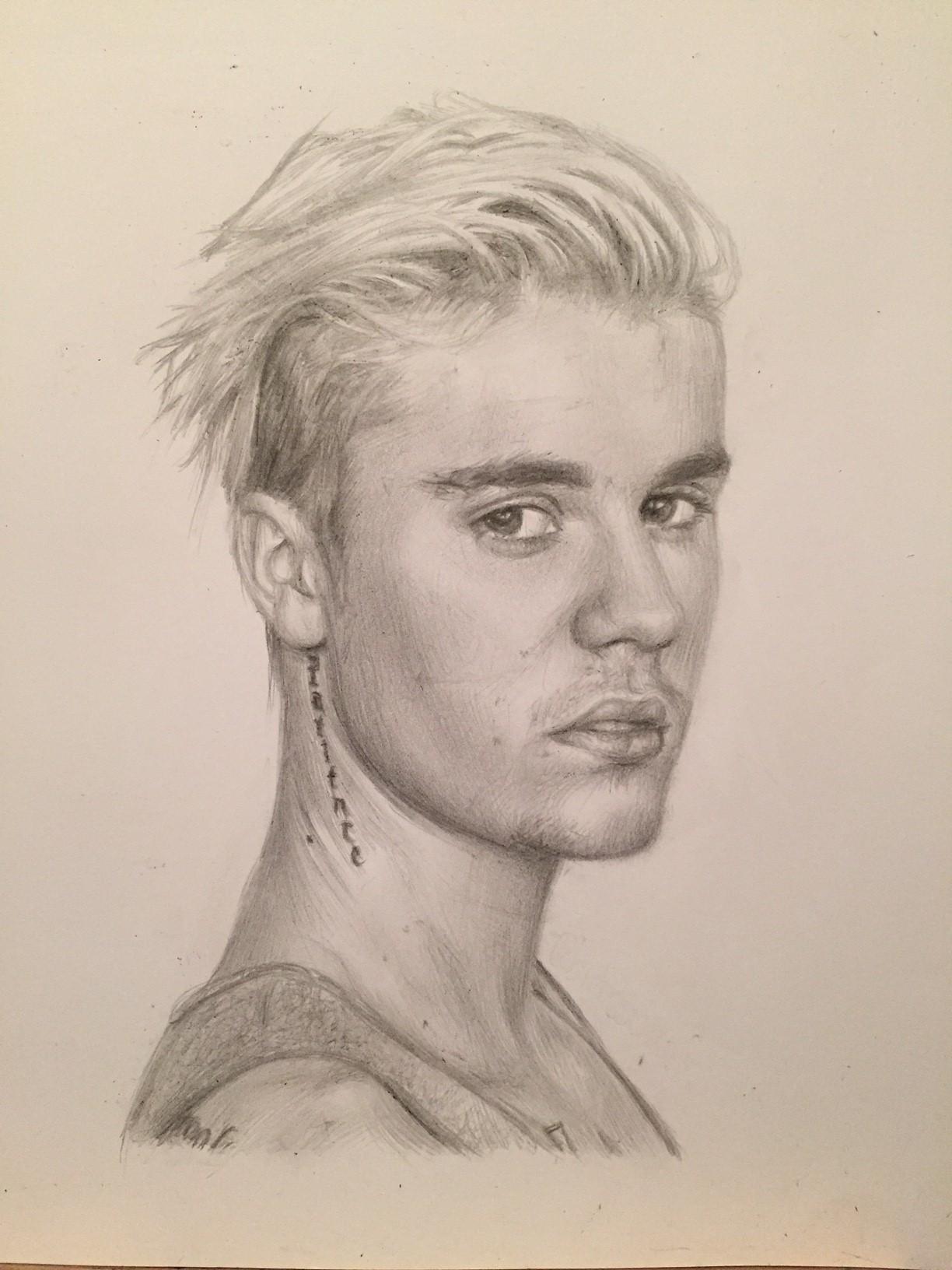 1224x1632 Justin Bieber Drawing By Charlotte Oxenham Justin Bieber