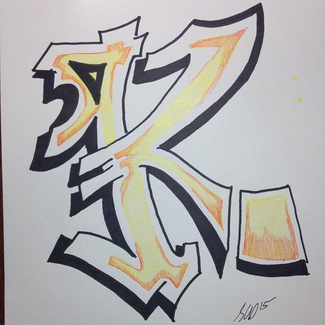 640x640 Graffiti Letter K By Fortunecookiezhd