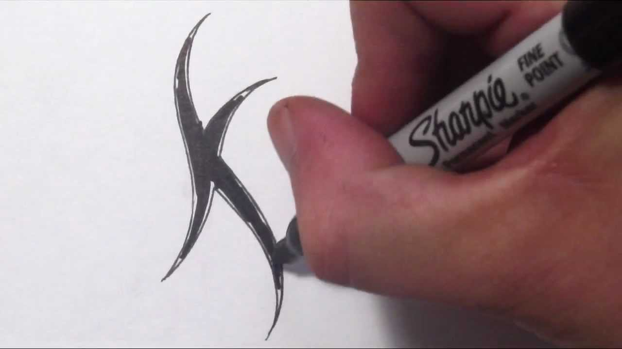 1280x720 How To Draw A Simple Tribal Letter K