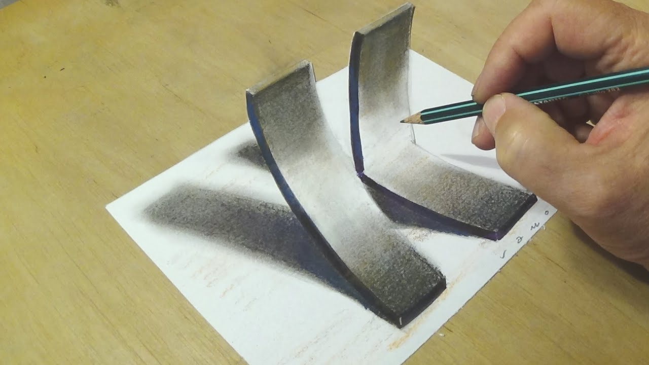 1280x720 How To Draw 3d Letter K