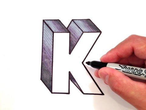 480x360 How To Draw The Letter K In 3d