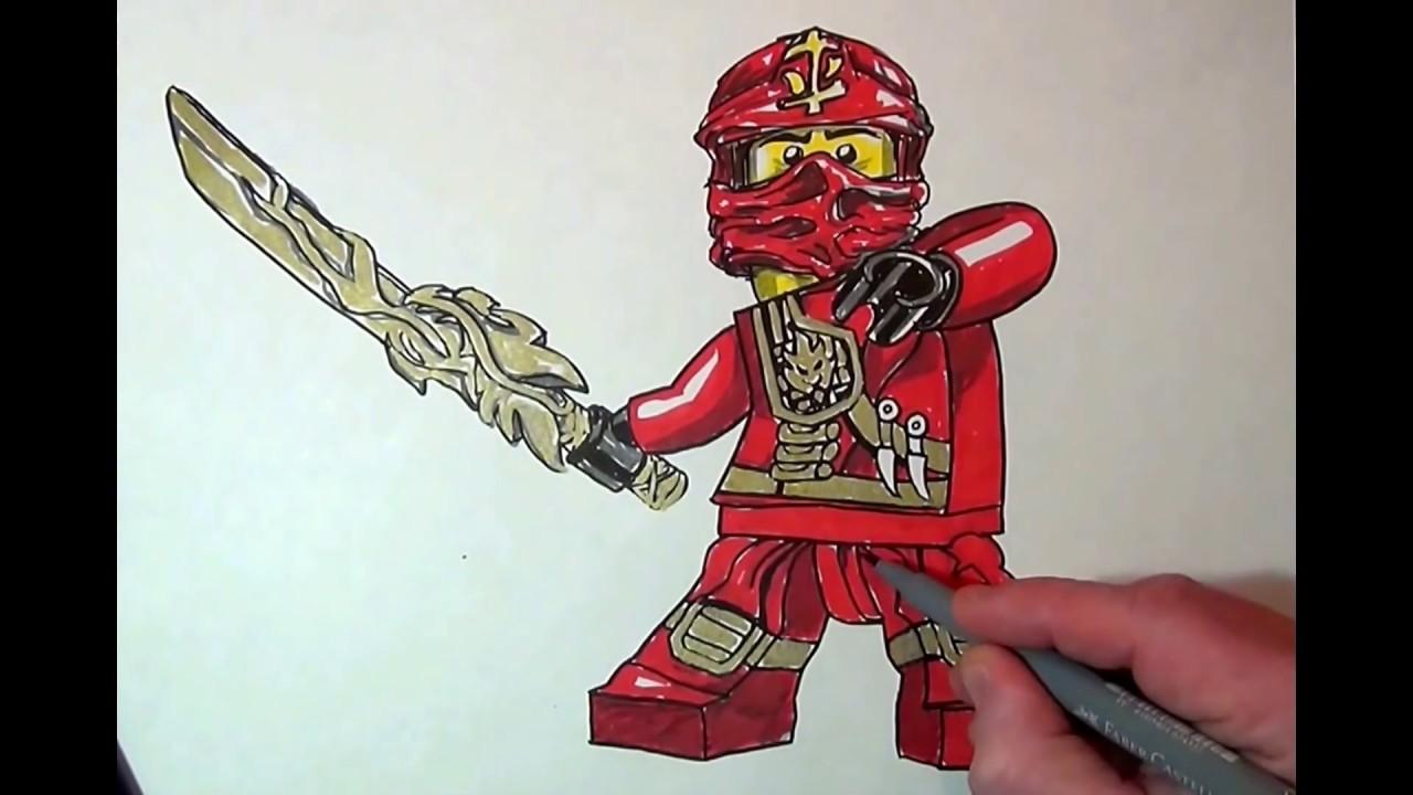kai ninjago drawing at getdrawings  free download