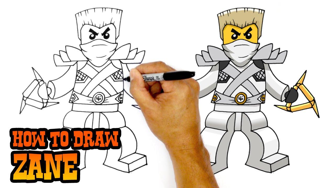 1280x720 How To Draw Zane Ninjago