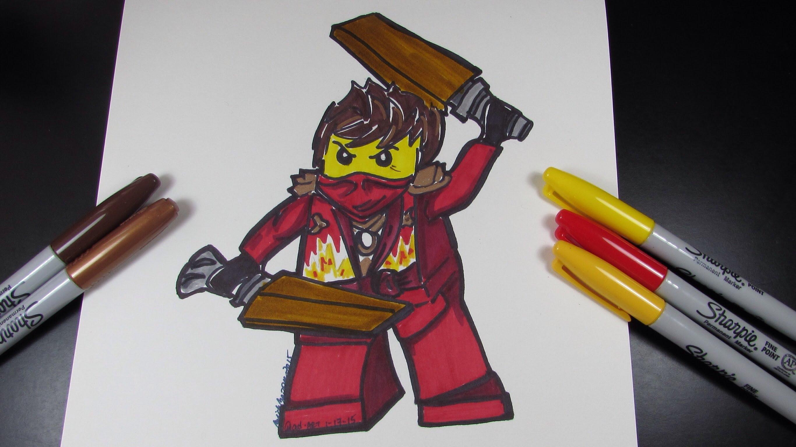 2732x1536 How To Draw Ninjago Kai The Red Ninja