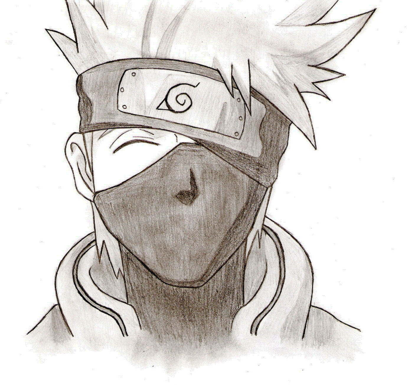 1379x1305 How To Draw Kakashi Easy Step By Step Naruto Characters Anime