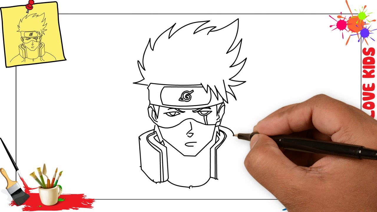 1280x720 How To Draw Kakashi Easy Amp Slowly Step By Step For Kids