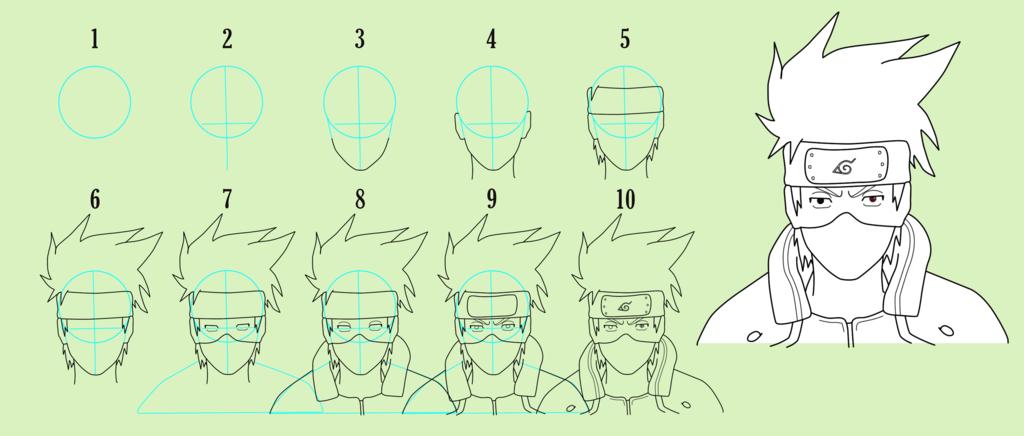 1024x436 Kakashi Easy Drawing