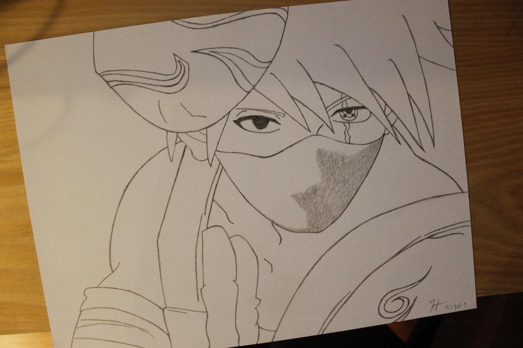 Kakashi Lineart : Kakashi hatake drawing at getdrawings free for personal use