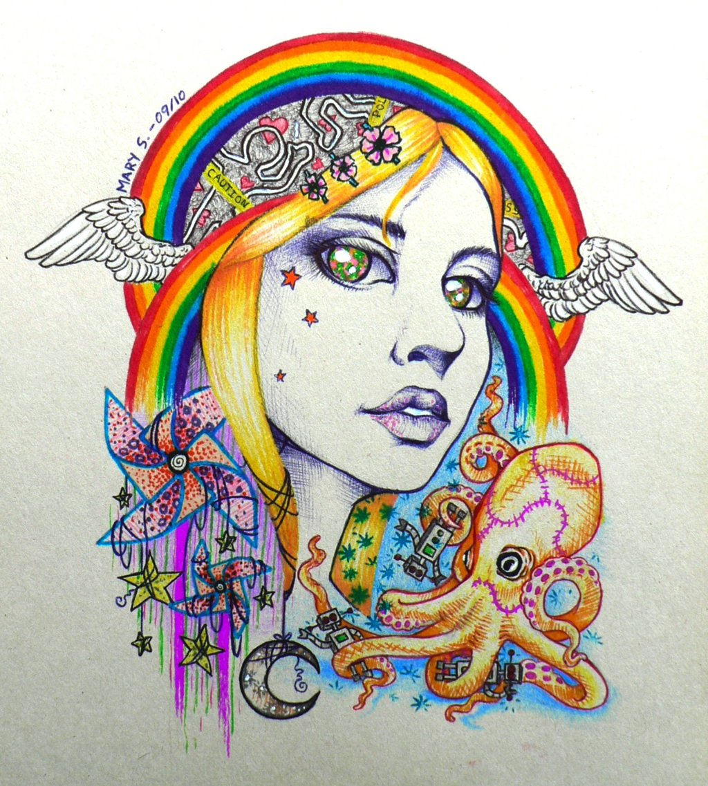 1024x1137 Girl With Kaleidoscope Eyes By Blackmagdalena