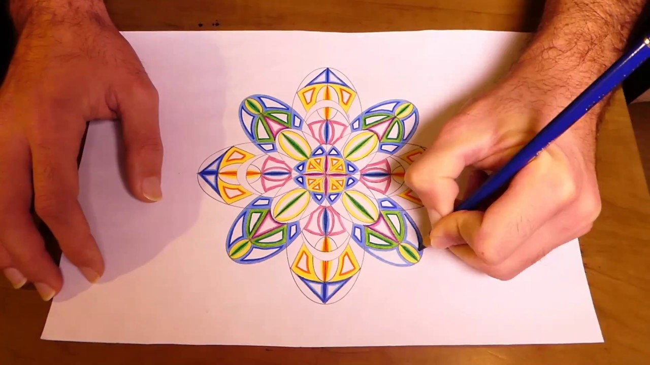 1280x720 How To Draw Psychedelic Mandala Kaleidoscope Painting