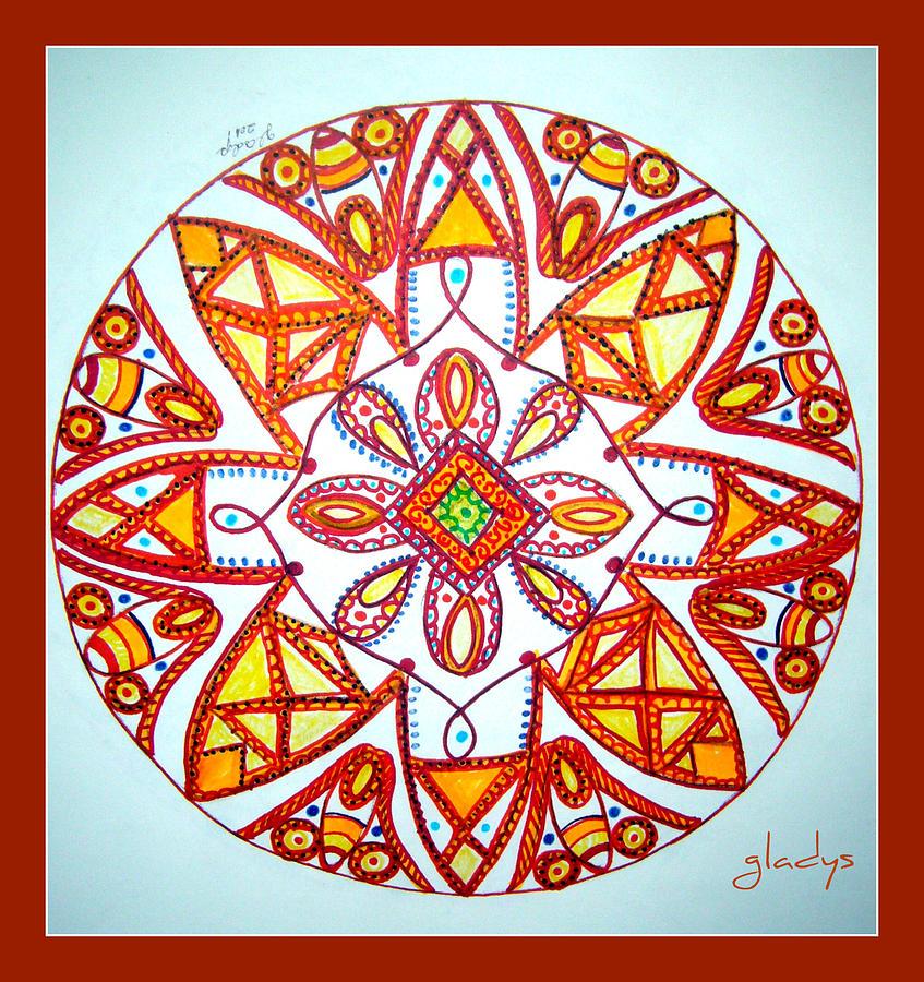 847x900 Kaleidoscope Drawing By Gladys Childers