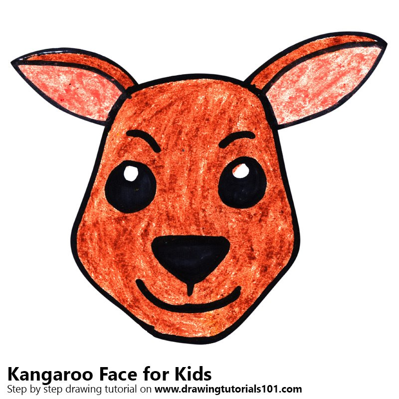 800x800 Learn How To Draw A Kangaroo Face For Kids (Animal Faces For Kids