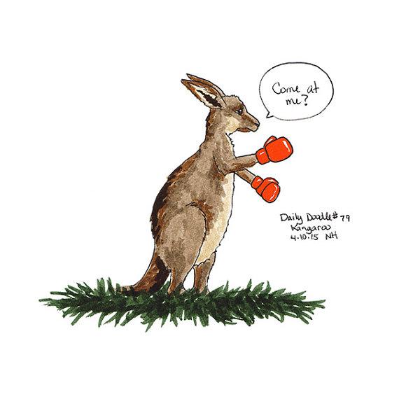 570x570 No.79 Kangaroo Illustration Daily Doodle