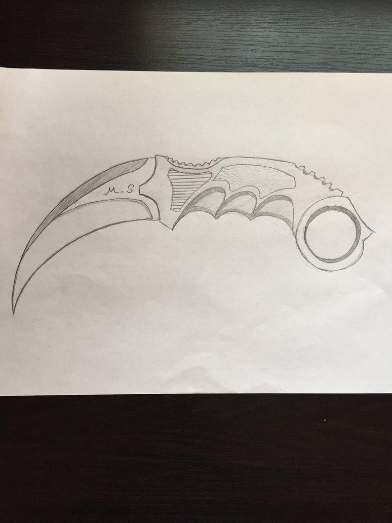 774x1032 Daily Sketch 7 Karambit Knife By Animaldino123
