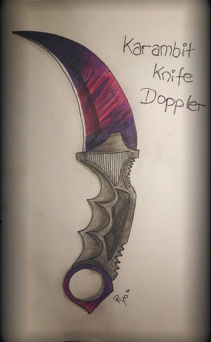 704x1136 Karambit Knife Doppler By Xryoku