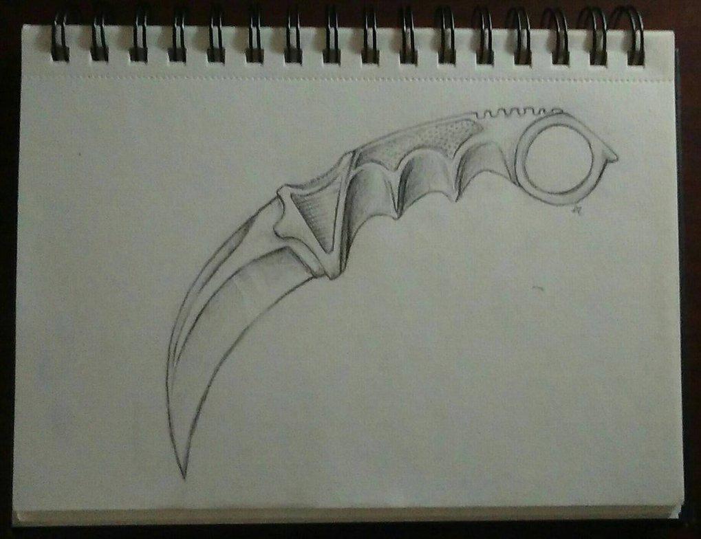 1019x784 Karambit Drawing By Severehercules