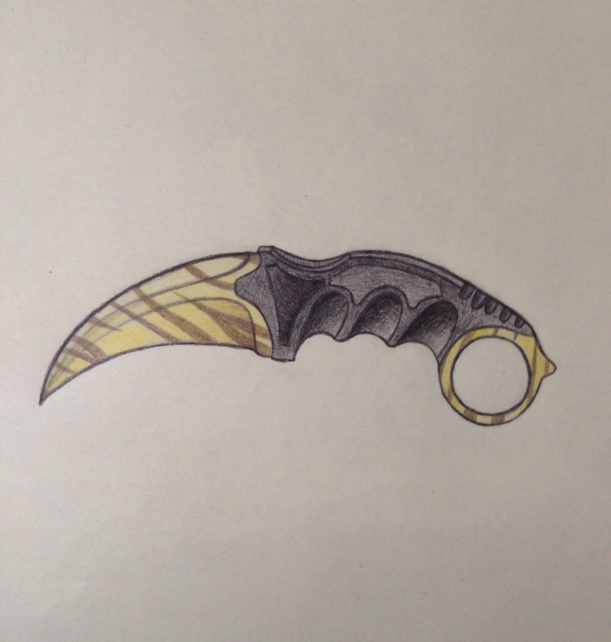 872x916 Karambit Tiger Tooth By Tazroy