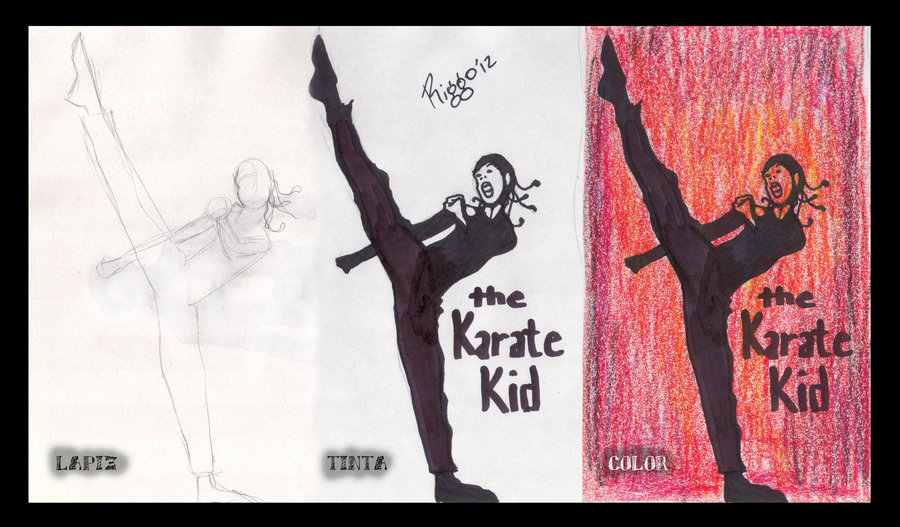 900x527 Karate Kid Sketch Paso A Paso By Dmentelibre