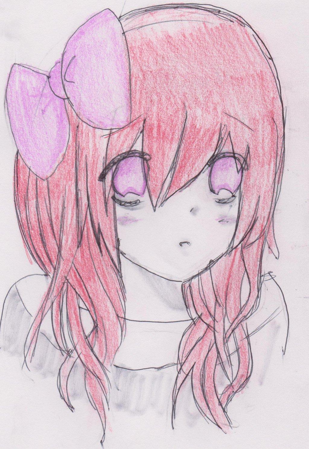 1024x1486 Kawaii Anime Drawing Kawaii Anime Girl By Ladydeathcandy