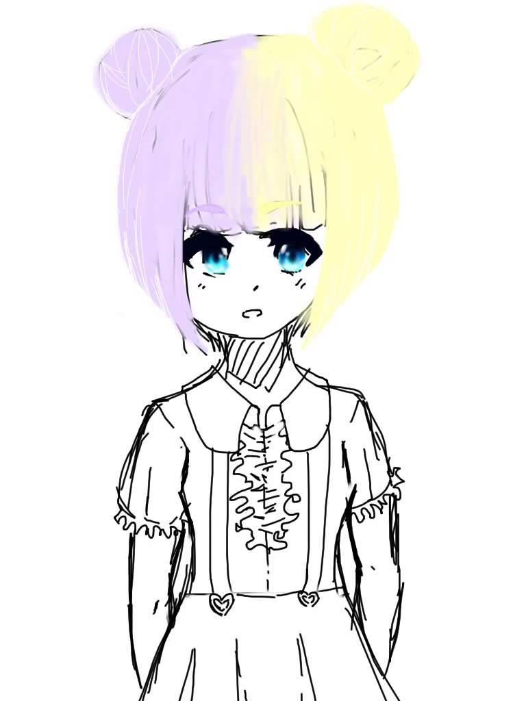 768x1024 Kawaii Anime Girl Drawing