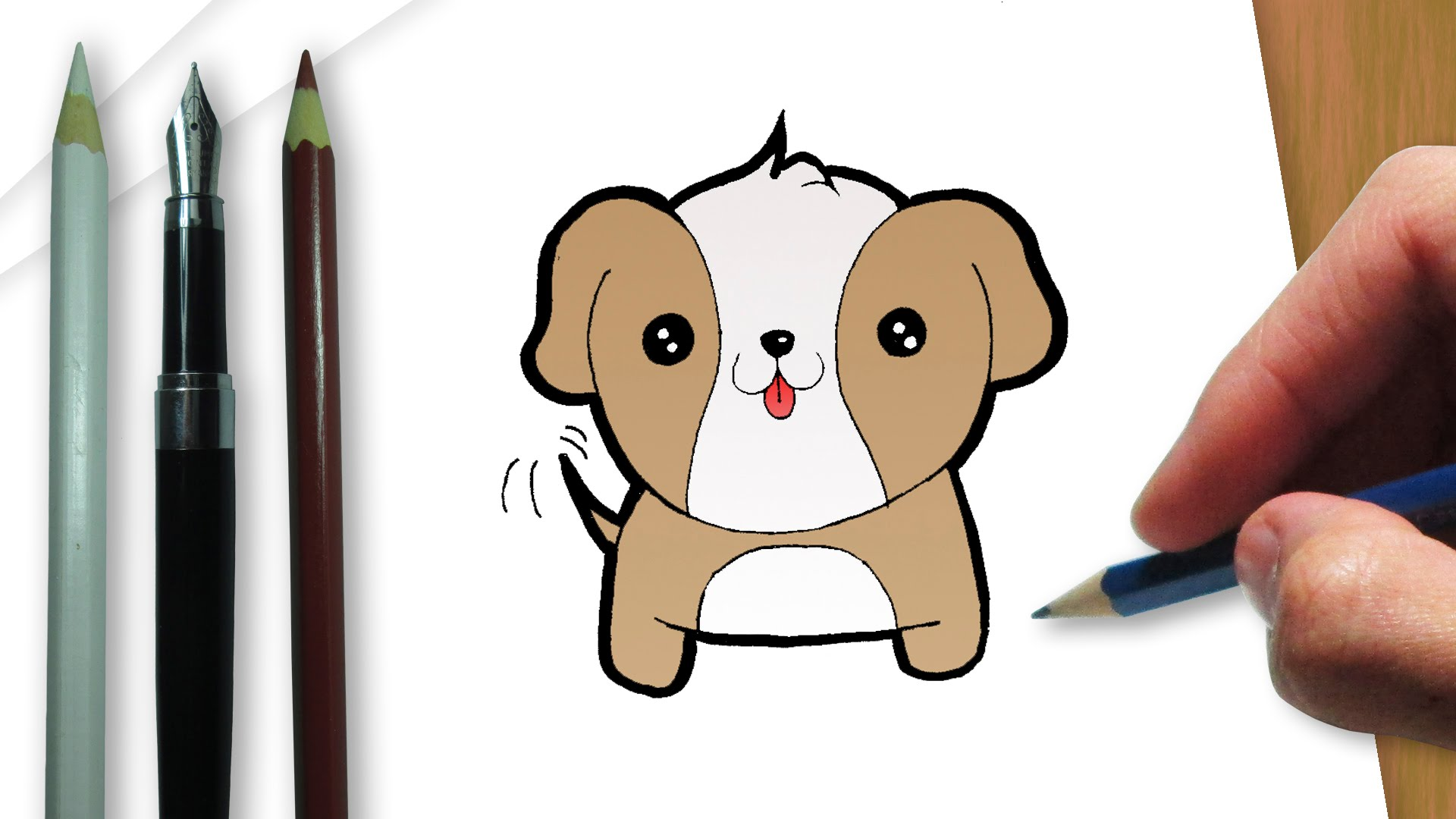 Kawaii Dog Drawing at GetDrawings com | Free for personal