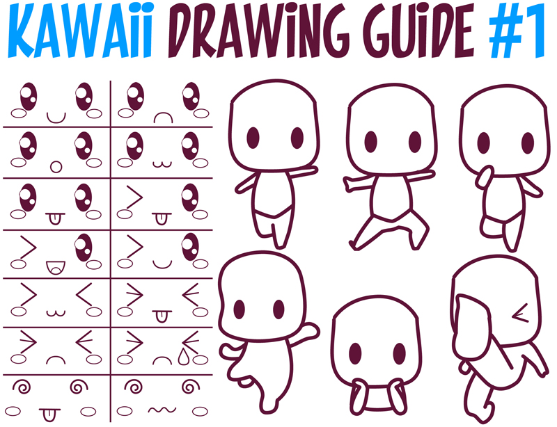 800x614 Guide To Drawing Kawaii Characters Part 1 How To Draw Kawaii